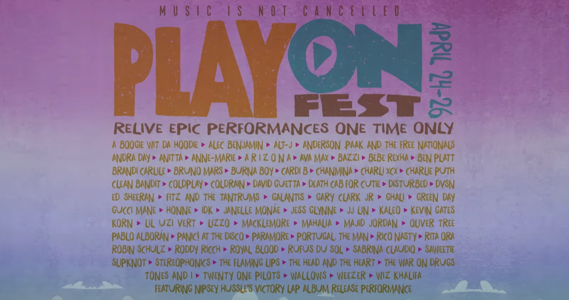 Stream PlayOn Fest f/ Memorable Performances From Lil Uzi Vert, Cardi B, Nipsey Hussle, and More