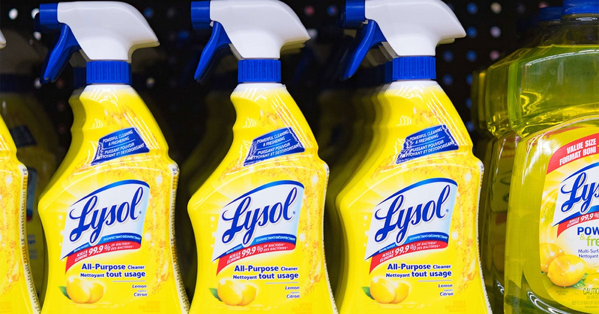 Lysol Begs Consumers Not To Drink Their Cleaning Products