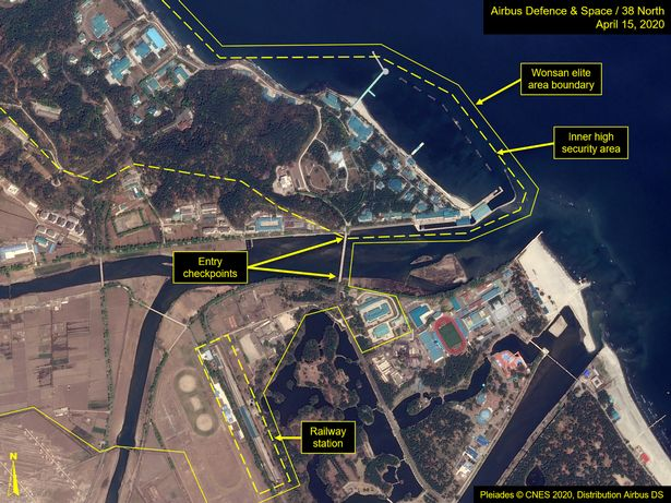 Kim Jong-Un's train captured in satellite images amid claims he is 'dead'