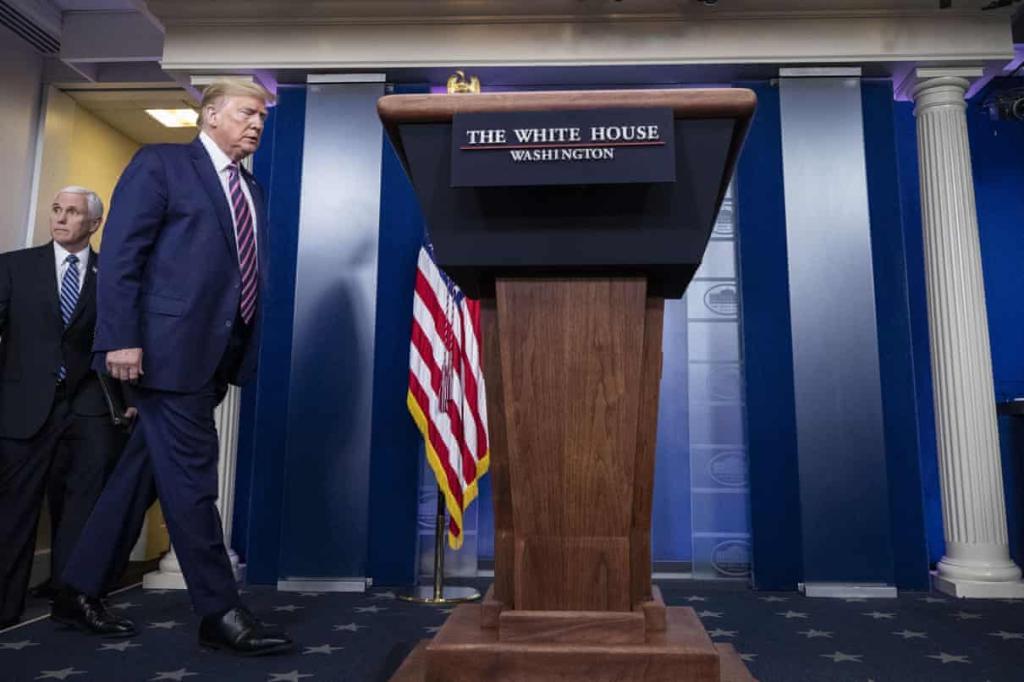 """疫情简报会现""""异常"""" 美媒:白宫考虑缩短特朗普露面时间"""
