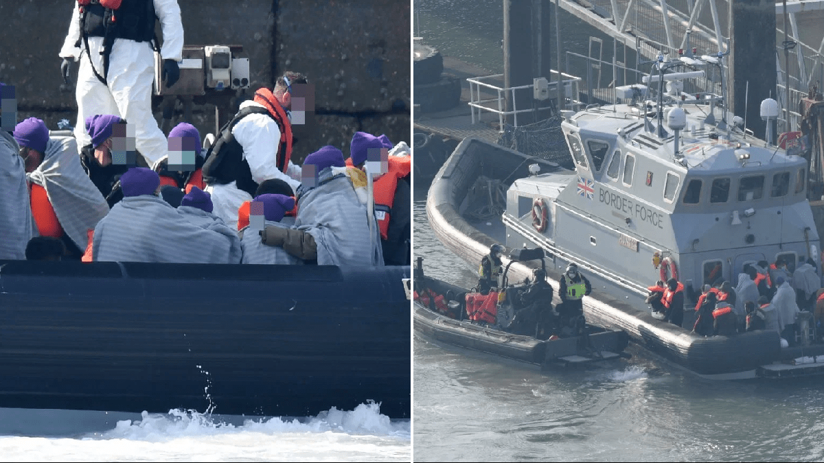 Boats carrying 35 migrants intercepted trying to cross English Channel