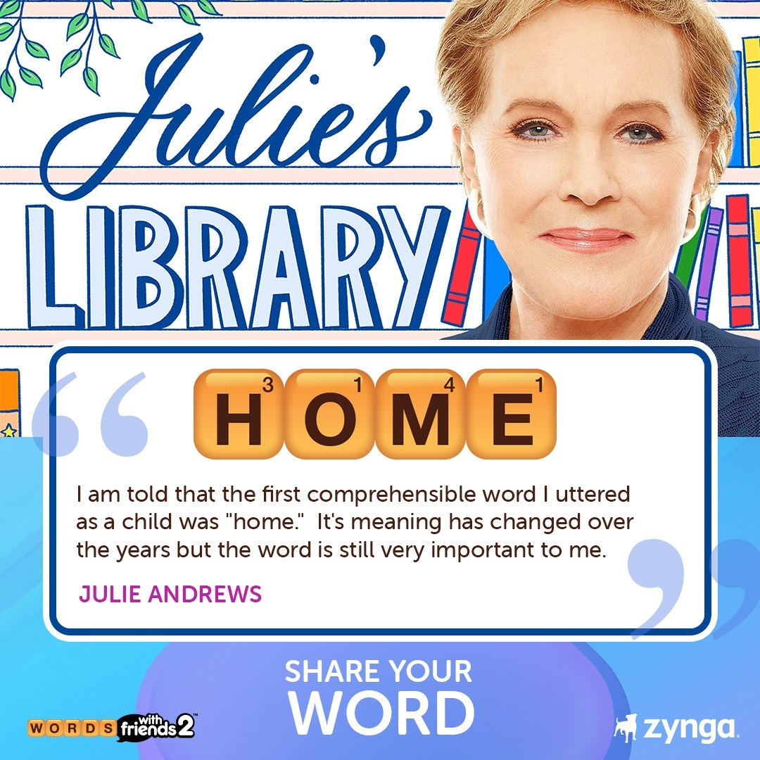 Coronavirus: Julie Andrews & Words With Friends to share 'words of hope' in #PlayApartTogether campaign
