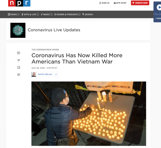 美国新冠死亡病例超5.8万这天,美媒曝出一个消息:10个州将重新开放近50个购物中心
