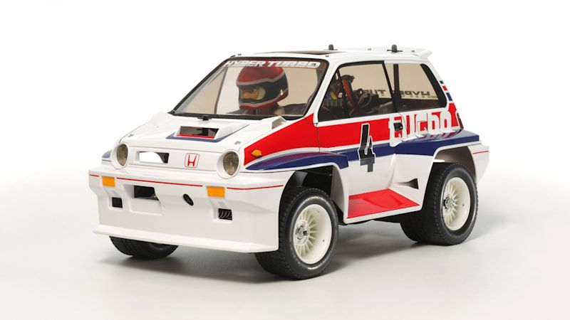 This Tamiya Honda City Turbo RC car from 1983 has been updated for 2020