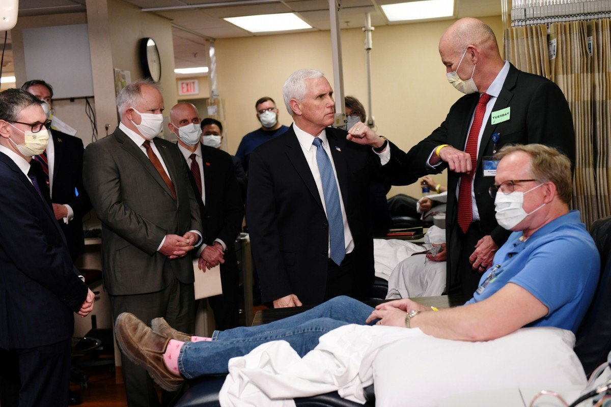 Coronavirus: Mike Pence flouts hospital policy and goes maskless in Mayo Clinic visit
