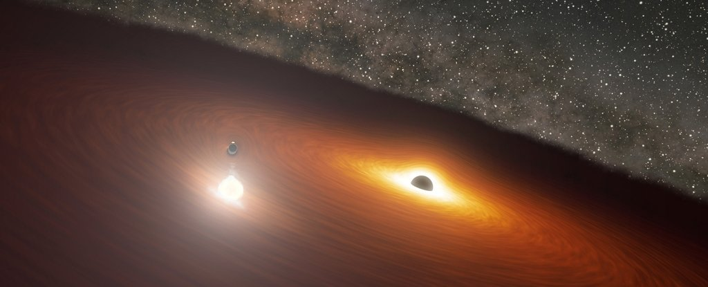 Astronomers Predict Astonishing Flare From Two Swirling Supermassive Black Holes