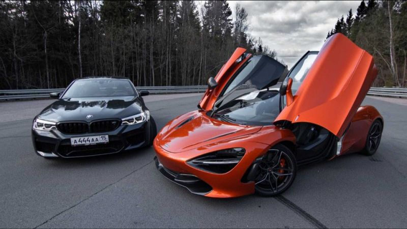 Tuned BMW M5 gives McLaren 720S a run for its money in Russian drag