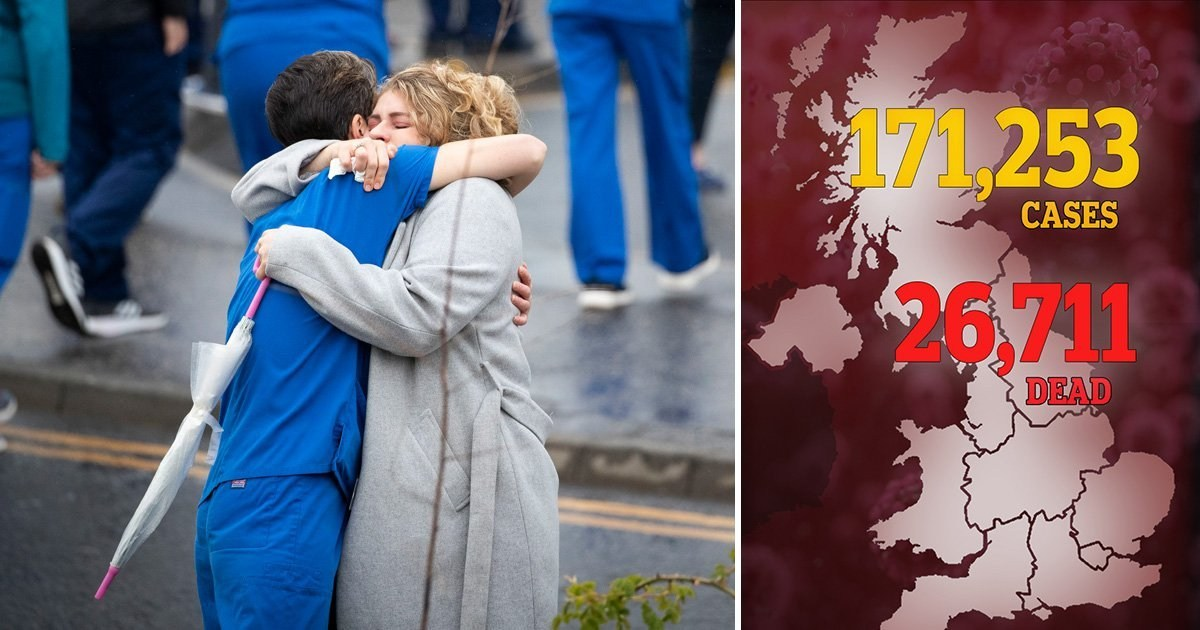 UK death toll jumps to 26,711 as another 674 die from coronavirus