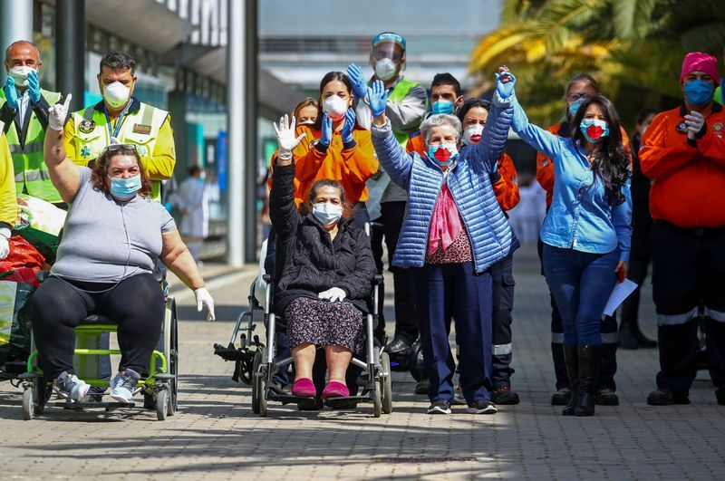 Spaniards to stroll out of lockdown as temporary hospital, symbol of pandemic battle, closes