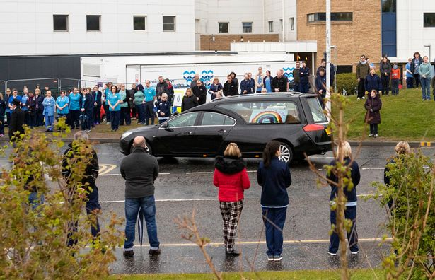 Heartbroken medics line streets in touching tribute for funeral of NHS worker