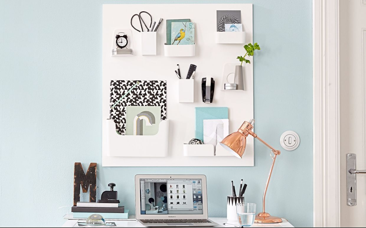 Want more desk space at home? Here's a little trick