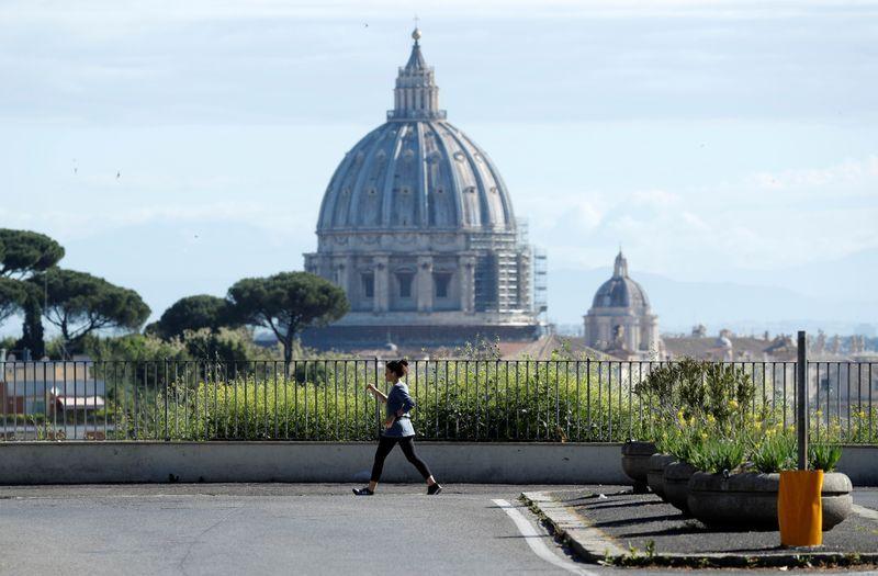 Italy's daily coronavirus death toll drops sharply ahead of lockdown easing
