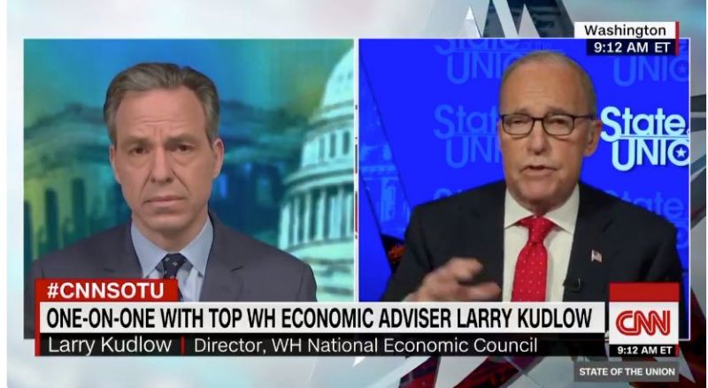 Larry kudlow defends February claim that U.S. Coronavirus outbreak was 'contained'