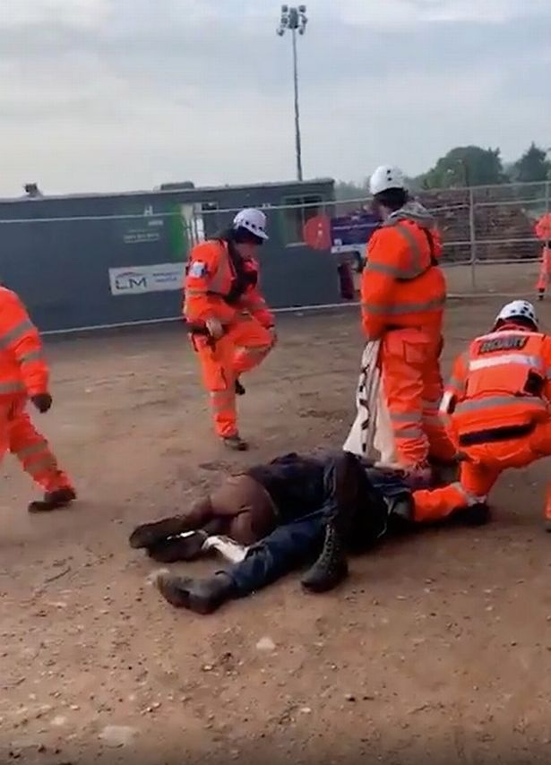 HS2 protester filmed with blood dripping from head 'after being assaulted by worker'