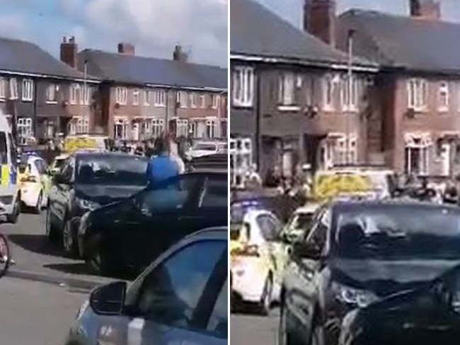 Police break up street party where people were playing bingo and having a barbecue
