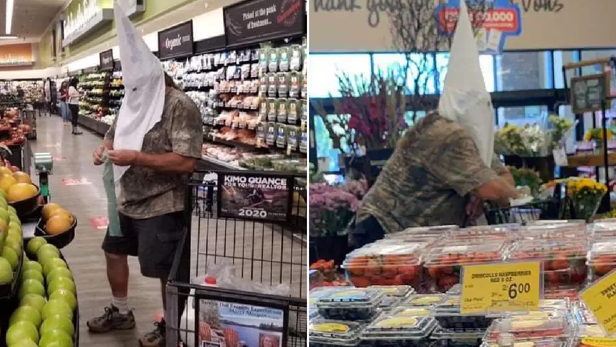 Shopper who wore KKK hood to grocery store won't be charged
