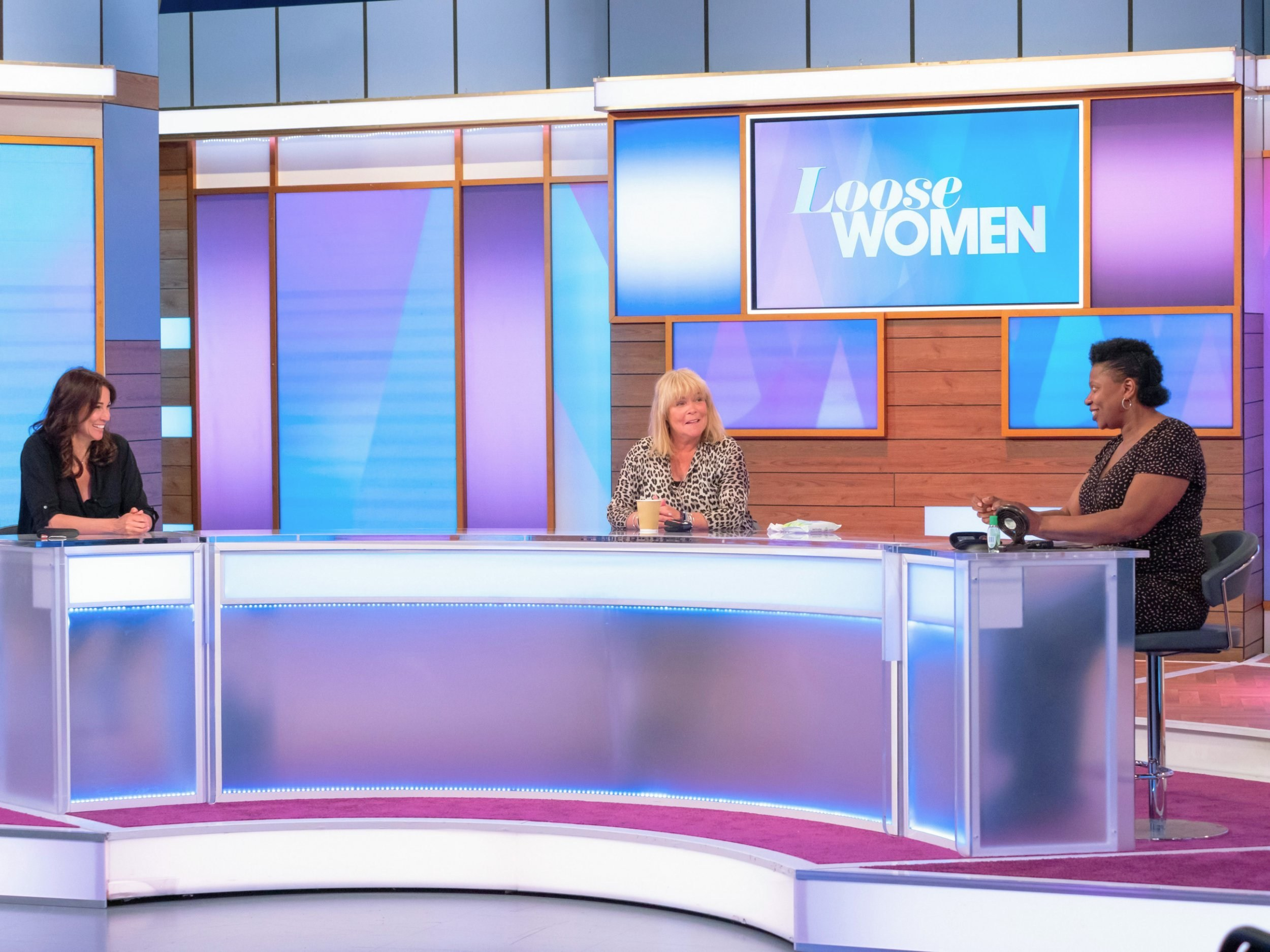 Who is on Loose Women today and will it be filmed live from the studio?