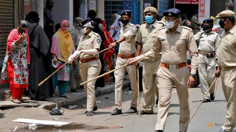 COVID-19 spreads among Indian police enforcing world's largest lockdown