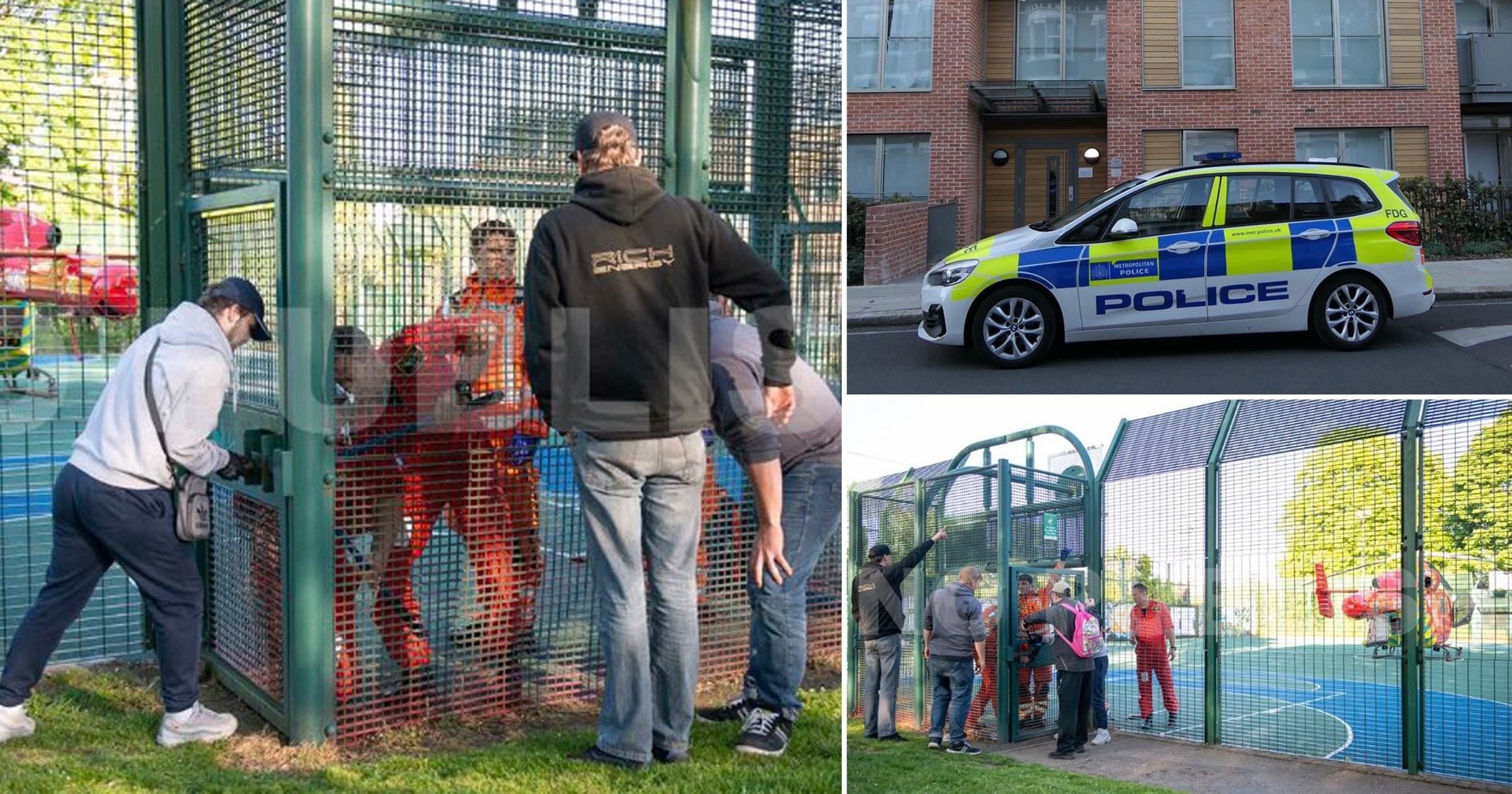 Air ambulance crew trapped in locked basketball court after rushing to help child, 5