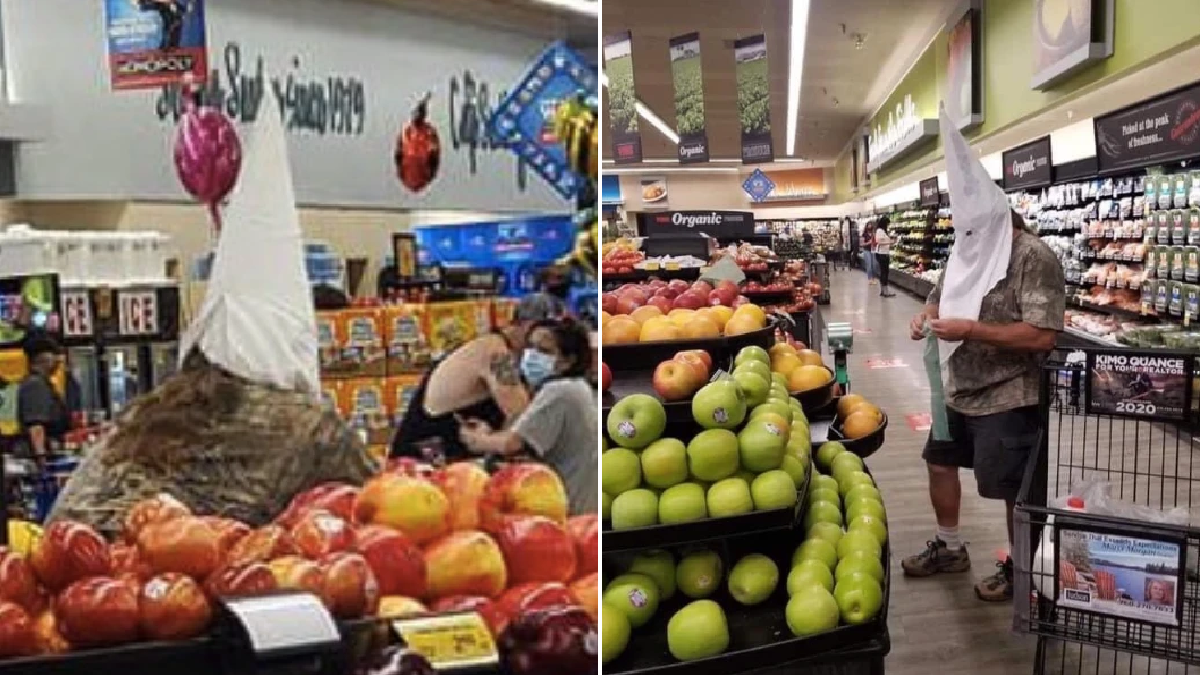 Shopper wore white Ku Klux Klan hood to supermarket as coronavirus protection