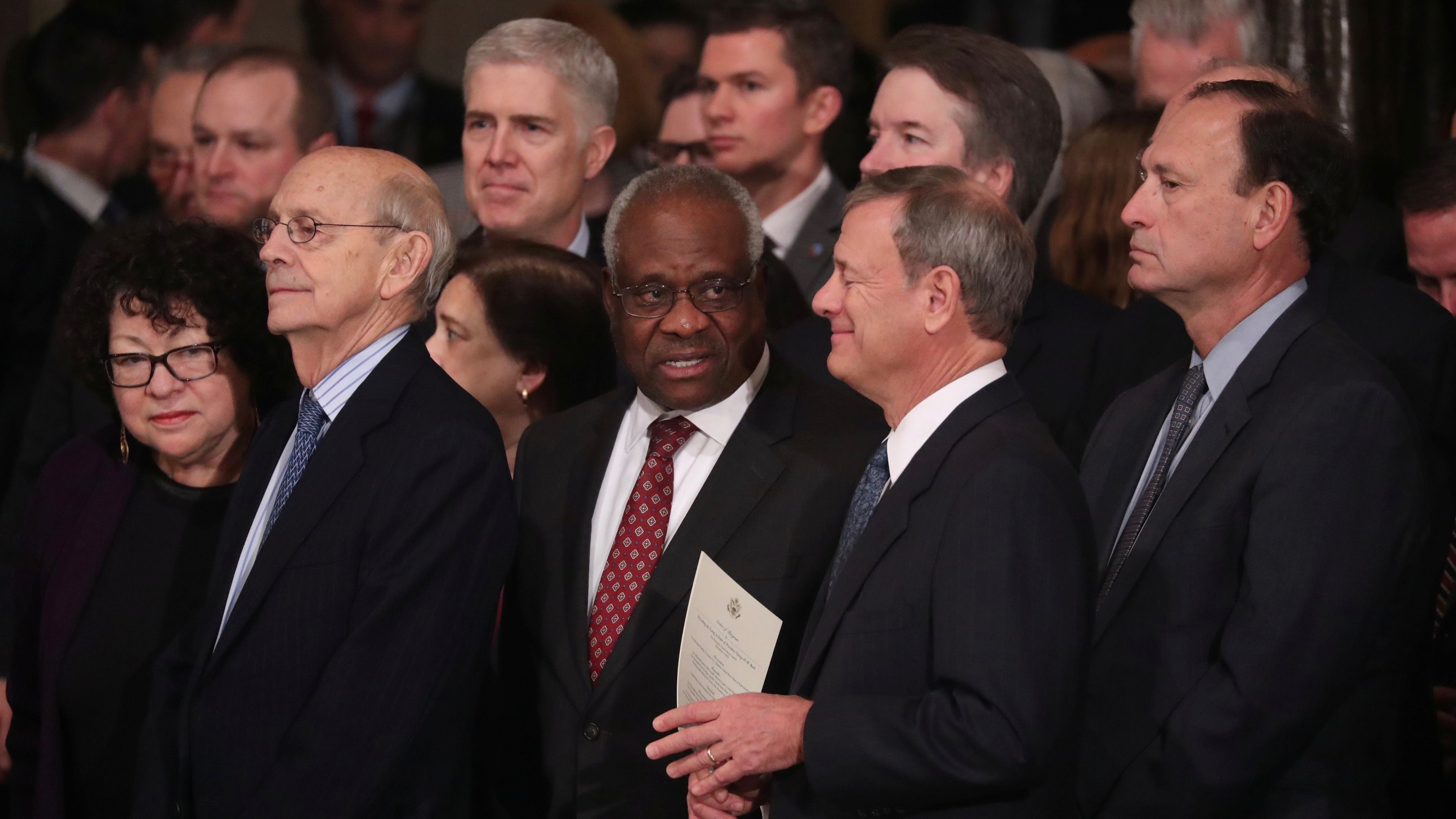 Remote arguments are forcing US Supreme Court justices to wait their turn