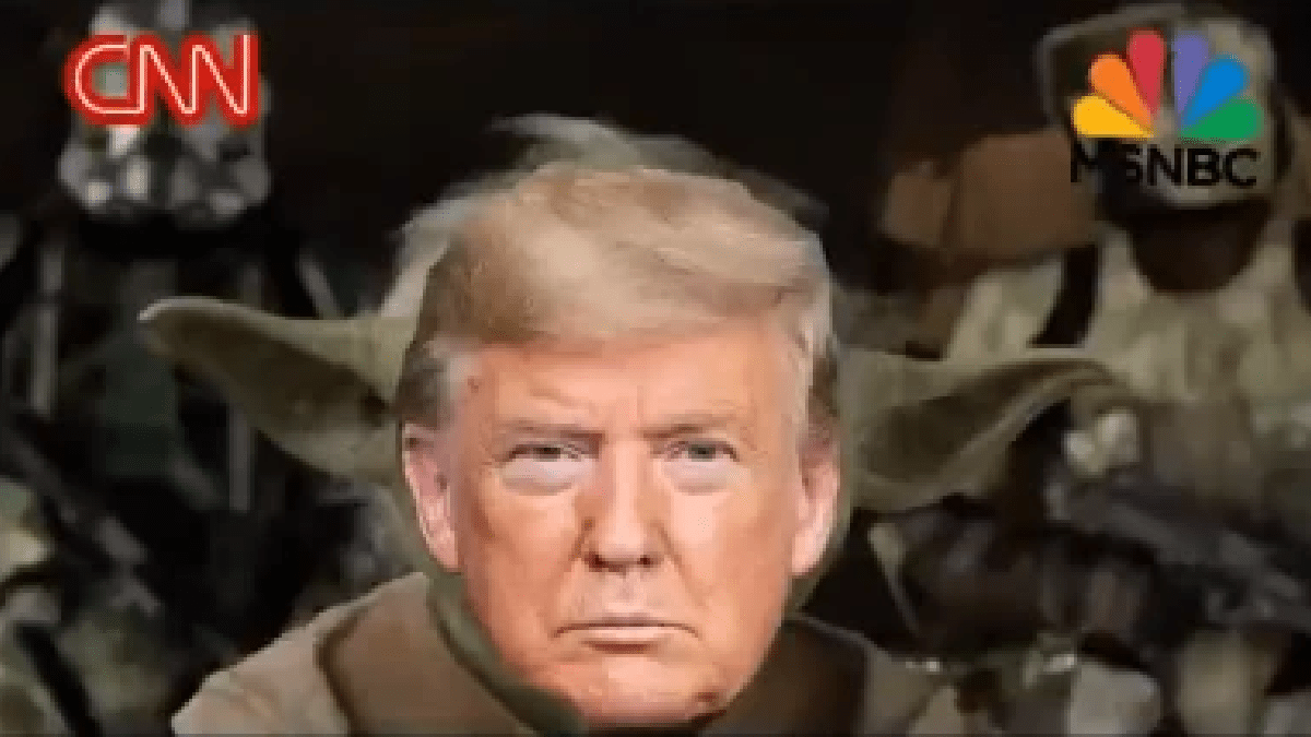 Donald Trump 'beheads' news networks as Yoda in bizarre new ad