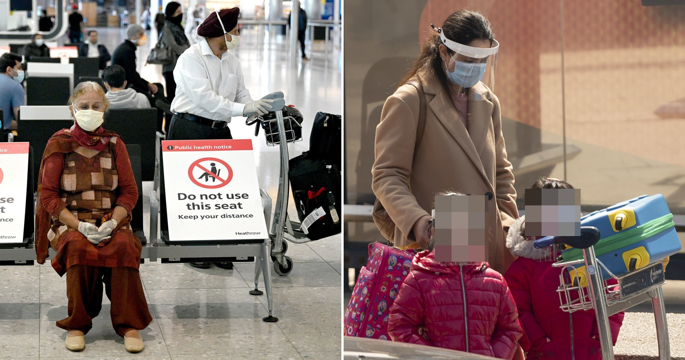 UK airports say travellers must wear gloves and masks from today