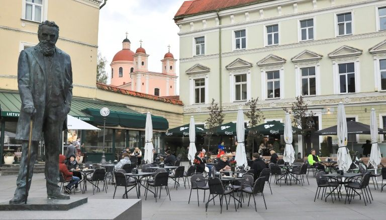 Lithuania capital embraces al fresco dining as lockdown eases