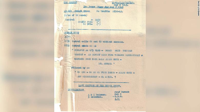 Last Nazi message decoded by Britain revealed to mark VE Day