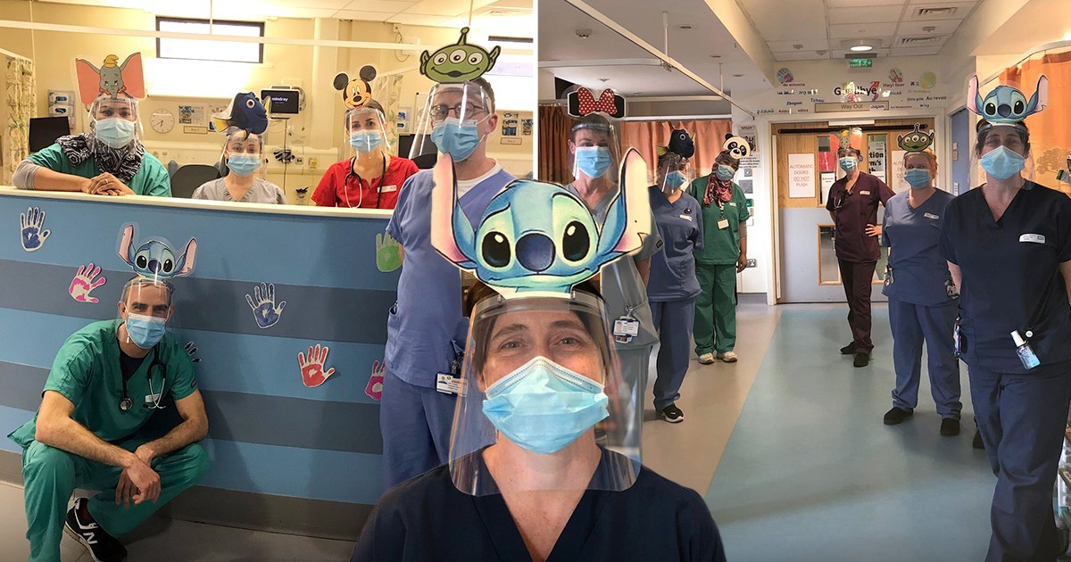 Nurses and doctors add cartoons to their face masks so kids won't be scared