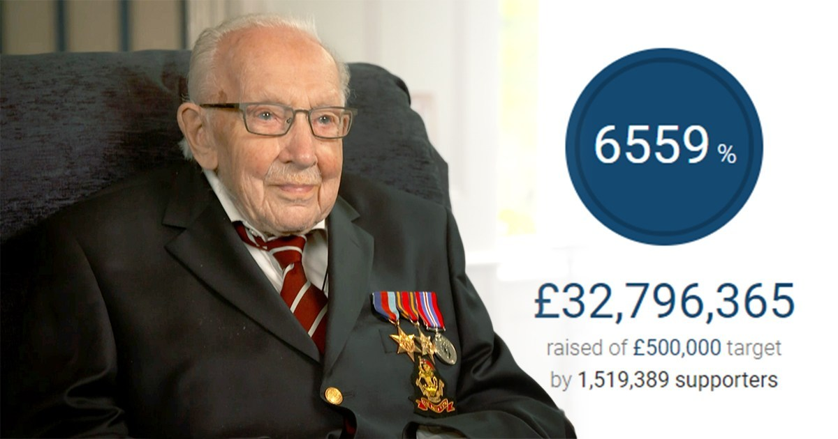 Downing Street urges JustGiving to 'reflect' on Colonel Tom's fundraising fee
