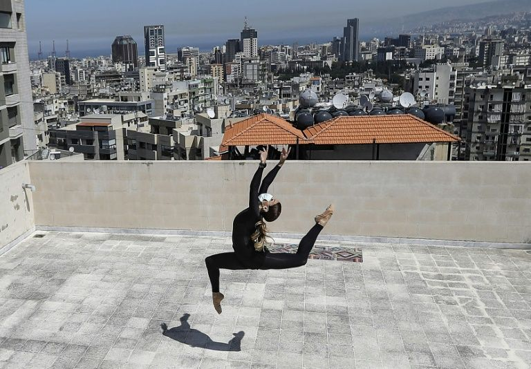 Lebanon rooftops bustle as virus shifts life upstairs