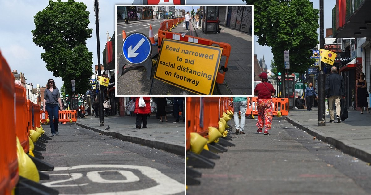 Pavements are being widened to help with social distancing