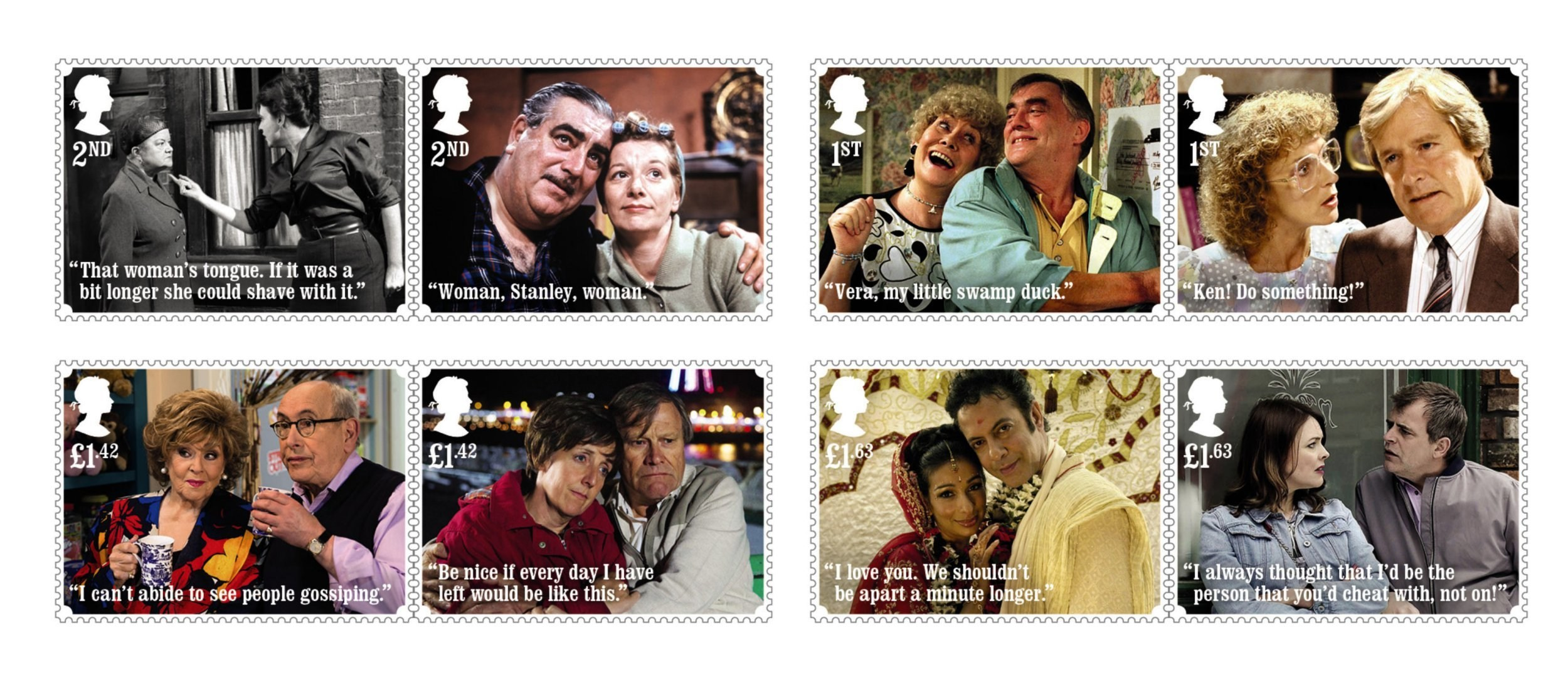 Coronation Street stamps unveiled to mark iconic soap's 60th anniversary