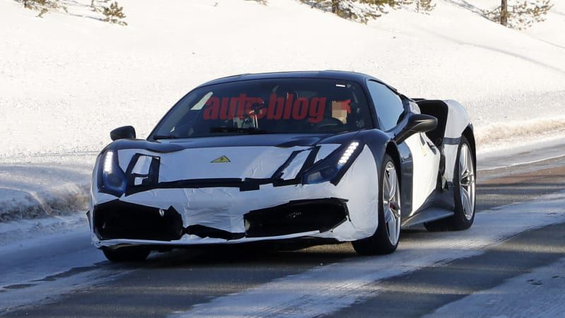 Ferrari mule lapping Fiorano could house V6 hybrid