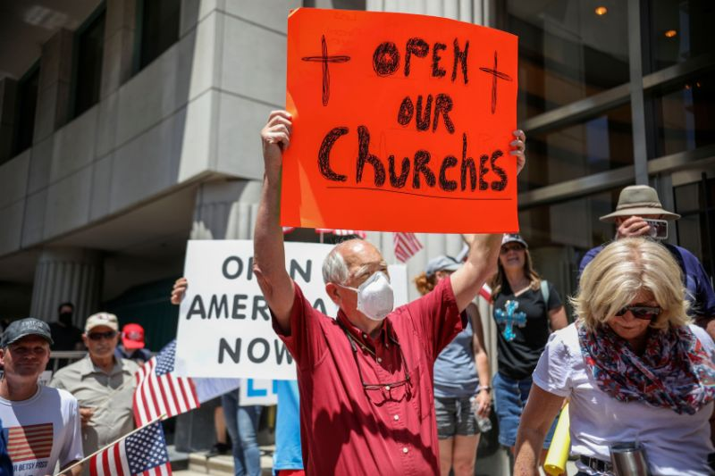 California churches pledge to reopen at end of may, regardless of Governor's orders