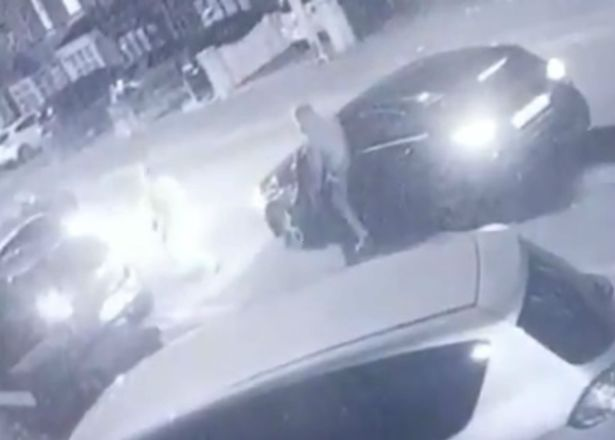 Dramatic footage shows mass brawl with rivals brandishing bats, machetes and a gun
