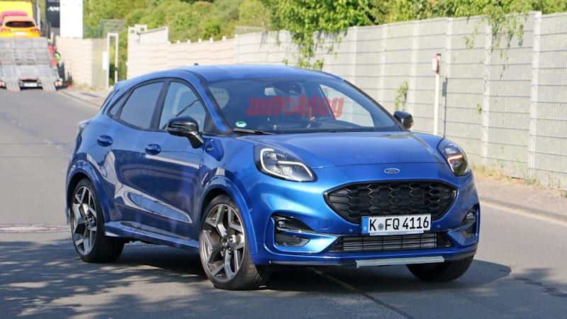 Ford Puma ST spied uncovered at Nurburgring
