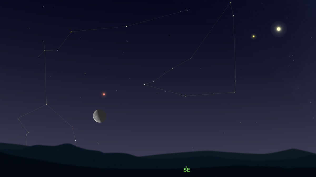 See Mars meet the last-quarter moon in the predawn sky Friday