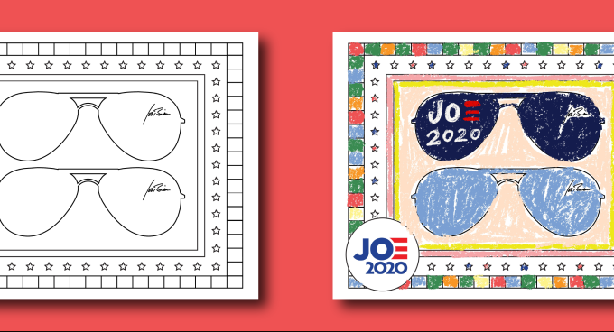 Biden campaign releases a flurry of digital DIY projects and virtual banners (yes, there are Zoom backgrounds)