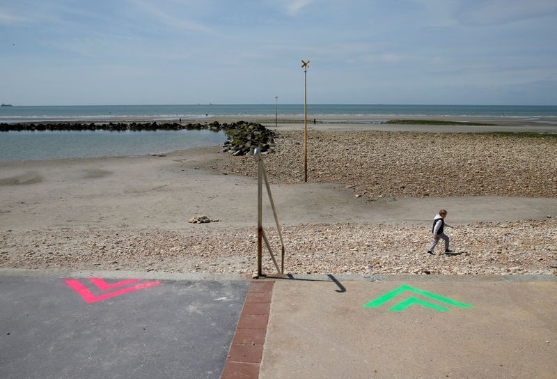 Swim but don't sunbathe - french riviera beach re-opens with post-lockdown rules