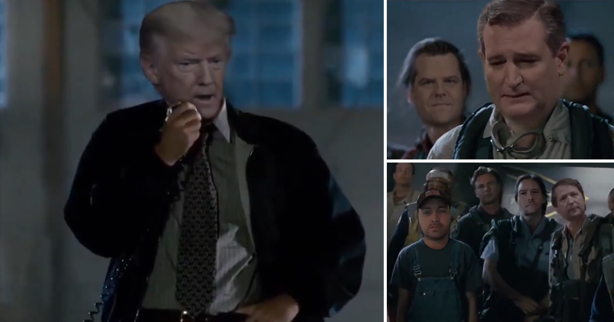 Trump tweets fake video of himself in Independence Day