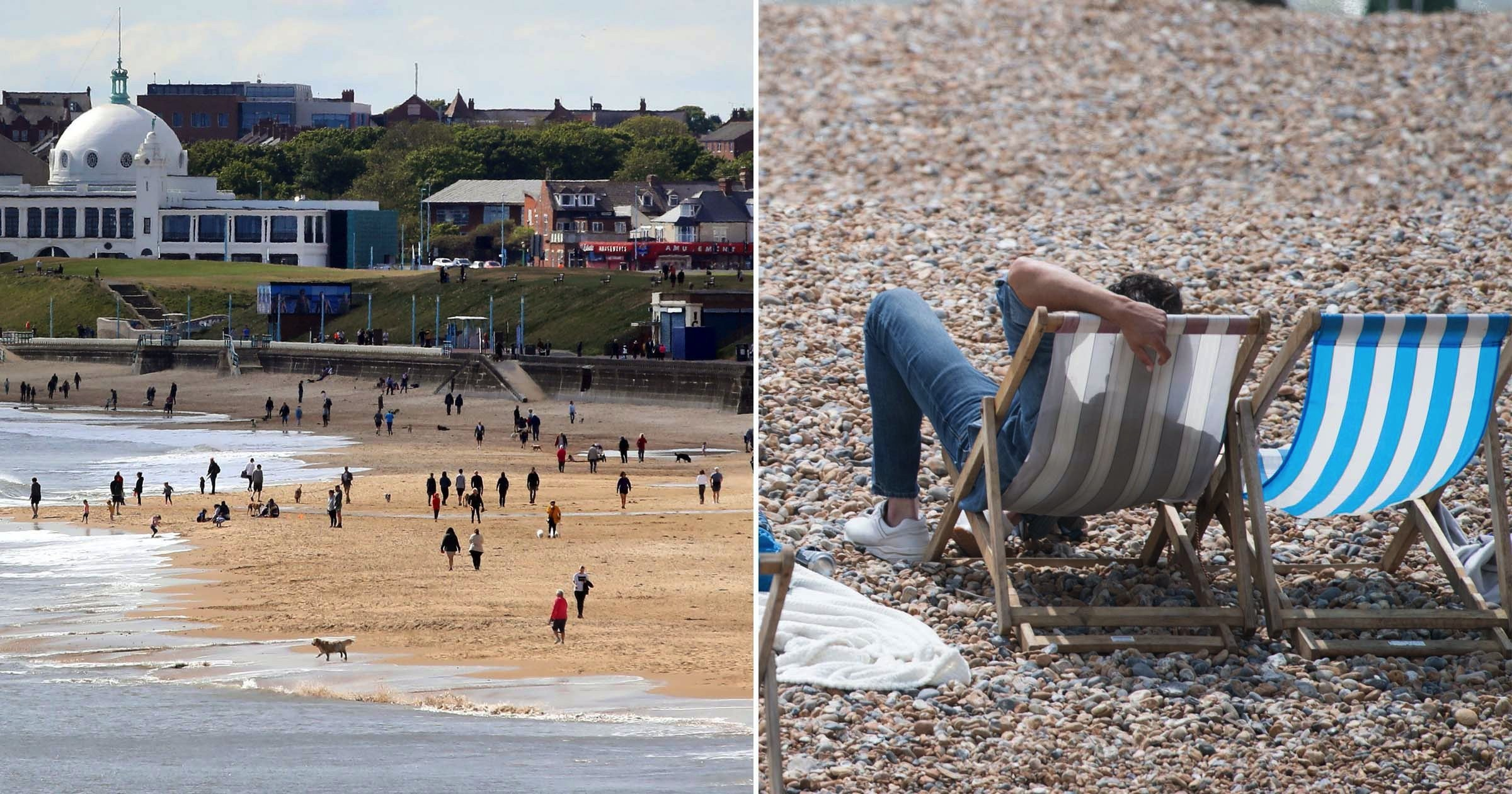 Brits head to beaches on hottest day since lockdown eased