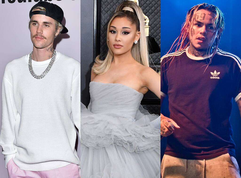 Ariana Grande and Justin Bieber React After Tekashi 6ix9ine Accuses Them of Buying Their Billboard No. 1
