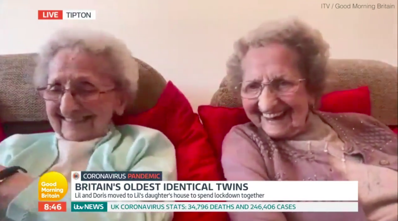 Britain's oldest twins, aged 95, joke 'plenty of good sex' is the key to a long life