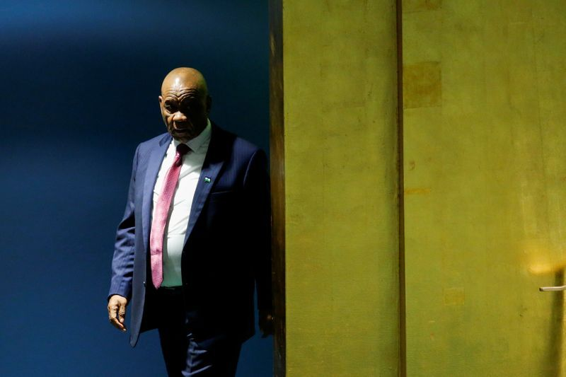 Lesotho PM thomas thabane resigns, soothing political crisis