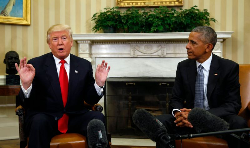 Breaking with tradition, trump reportedly won't unveil obama portrait