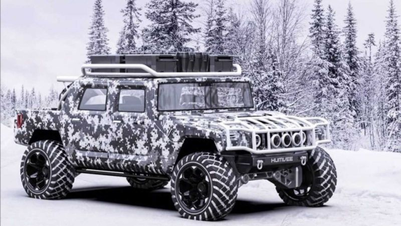 Reborn Hummer H1 rendered by Rezvani Tank designer