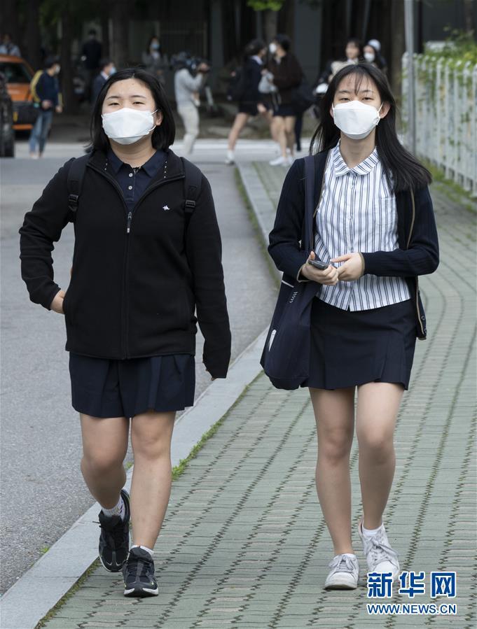 韩国高三年级学生返校复课