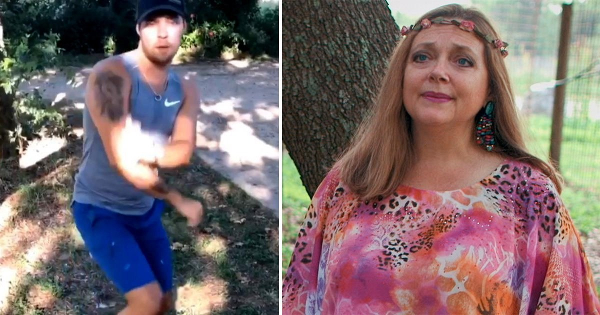 Tiger King's Dillon Passage completes 'savage' Carole Baskin TikTok challenge and everyone is losing their minds